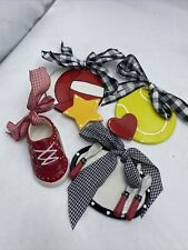 Nwt Clay Chick Ceramics Ornament lot tennis ball volleyball Shoe, And Other