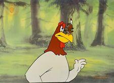 """Warner Bros Foghorn Leghorn """"The Egg-Cited Rooster"""" Sericel Animation Art Cel"""