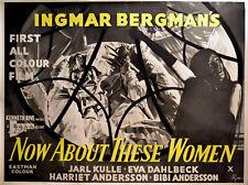 NOW ABOUT THESE WOMEN 1964 Ingmar Bergman Eva Dahlbeck PAYNE QUAD POSTER