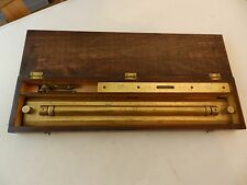USS CALOOSAHATCHEE U.S. NAVY NAVIGATION SET HARLING BRASS ROLLING RULE