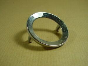 Schubladengriff, Möbelgriff, verchromt, runder 70er Jahre Griff, Ringgriff, Ring