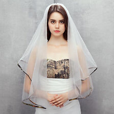 New White Camo Wedding Veils Two Layer Tulle Bridal Veil Bridal Accessories Comb
