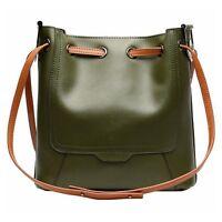 Women Genuine Real Leather Handbag Shoulder Shopping Bag Casual Hobo Tote Purse