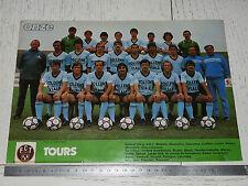 CLIPPING POSTER FOOTBALL 1981-1982 FC TOURS STADE-DE-LA-VALLEE-DU-CHER