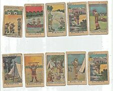 Boy Scouts Small Trading Card Lot of 10 Must Be Part of Series