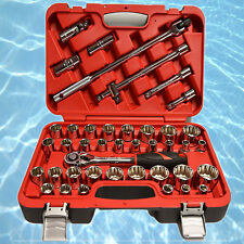 "Fuller Pro 1/2"" Drive 42 Piece Metric & SAE Chrome Vanadium Socket Set"