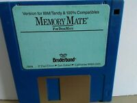 "ITHistory (199X) IBM Software: MEMORY MATE For DeskMate (Broderbund) 3.5"" No Man"
