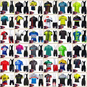 2021 Summer Mens Team Cycling Jersey Bib Shorts Set Cycling Short Sleeve Jersey