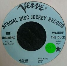 Northern Soul 45 The Triumphs Walkin' The Duck Verve Demo Reissue