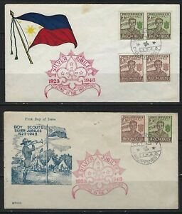 PHILIPPINES - 1948 BOY SCOUTS SILVER JUBILEE CACHET COVERS