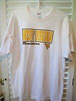 West Virginia Mountaineers team logo white cotton T-Shirt Size 2XL MINT!
