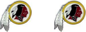 Washington Redskins Football Team Logo NFL Silver Post Stud Earrings Set
