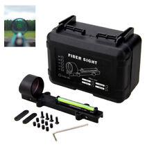 Lightweight Fiber Sight 1x28 Dot Green Hunt Fit Shot gun Rib Rail Hunting scope
