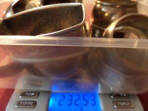 232.5 GRAMS OF SCRAP HALLMARKED SOLID SILVER--(20 ITEMS)
