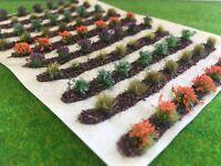 Farm Crops x10 Set 05 - Model Railway Static Grass Tufts Garden Allotment Field