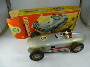 Vintage Western Germany JNF Mercedes Monoposto Tin Model Friction Car Toy w/Box