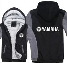 Yamaha Kapuze Reißverschluss Jacke Mantel Winter Warm Schwarz und Grau