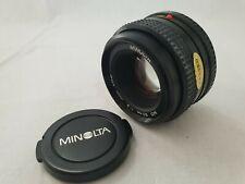 Minolta MD 50mm 1:2 ø49mm Japan Objektiv
