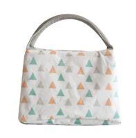 Sac Repas Sac à Déjeuner Isotherme Imperméable Pliable Lunch Bag (Triangles)