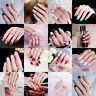 24 Pcs/Set  Nail Tips Acrylic Short Full False French Nail Art Tips with G_sh