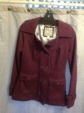 Billabong Size M Purple Pea Coat EUC