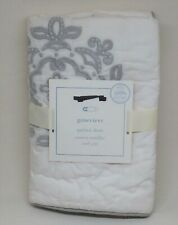 Pottery Barn Baby Pbk Genevieve Small Quilted Sham Gray Organic Cotton New