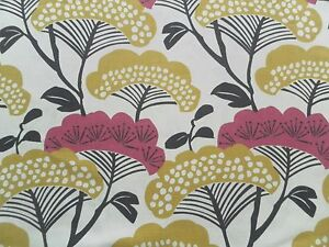 Sanderson Curtain Fabric TREETOPS 2.4m Magenta/Gold Floral Design 240cm