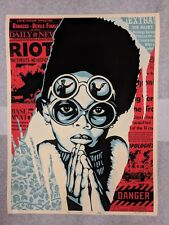 SHEPARD FAIREY OBEY GIANT Late Hour Riot Poster Signed Dennis Morris We People