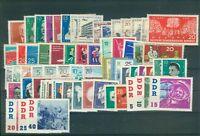 DDR Jahrgang 1961 , postfrisch , Auswahl aus Michel Nr. 807 - 868
