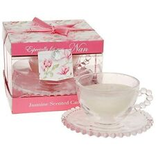 Vintage Lane Jasmine Scented Candle Tea Cup ~ Nan ~ Mother's Day Gift LP25473