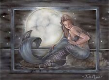 Marjolein Gulinski 11x17 Print Full Moon Mermaid Night Ocean Beach Art Wall NEW