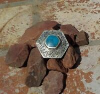 AFGHAN TURQUOISE & SILVER RING TRIBAL BELLY DANCE GYPSY BOHO WITH FREE SHIPPING