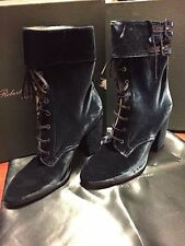 f4bb1ca62536 NEW Robert Clergerie Velour Lace Up Short Boots Size 8  795 at Bergdorf  Goodman