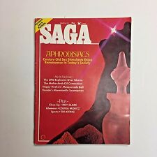 Vintage SAGA Men's Magazine March 1975 UFO Explosion Roy Clark Louisa Moritz