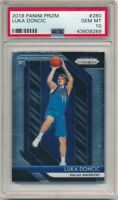 LUKA DONCIC 2018/19 PANINI PRIZM #280 ROOKIE DALLAS MAVERICKS PSA 10 GEM MINT B