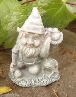 Latex small gnome with basket Mold Plaster / rapid set cement all mould