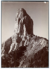 France, Mont Aiguille, face nord  Vintage citrate print Tirage citrate  12x1
