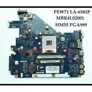 LA-6582P For ACER Aspire 5742 5742G Laptop Motherboard MBR4L02001 HM55 PGA989
