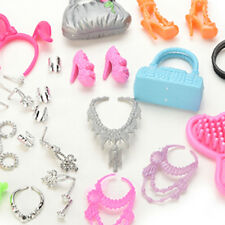 41* Jewelry Necklace Earring Comb Shoes Crown Accessory For Barbie Dolls Set