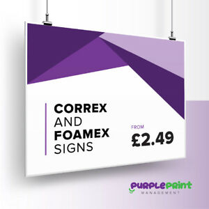 Full Colour Custom Correx and Foamex Boards/Signs 3,4,6 and 10mm options.