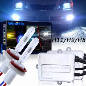 75W WINETIS HID Fog Light Bulbs Conversion Kit H11 H16 H8 H9 8000K Super Bright