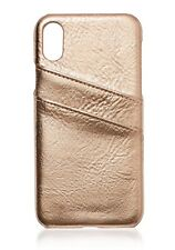 Sportsgirl iPhone X Card Case ROSE GOLD PU Leather 2 Card Slots RRP $14.95