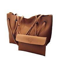 Women's Soft Leather Handbag Set Luxury Fashion Design Shoulder Big Casual Bags