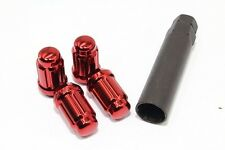 20 12x1.5 Red Spline Tuner Lug Nuts Mazda 2 3 5 6 MX-5 Miata RX-8 CX-3 CX-9
