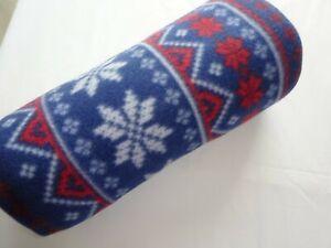 Christmas Design Fleece Throw/Blanket/Cover.    Fairisle.