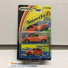 #3 Ford Focus #63 * ORANGE * Matchbox Superfast * L6
