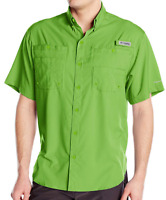 NEW Columbia Mens PFG Tamiami II Omni-Shade Short Sleeve Fishing Shirt Spring L
