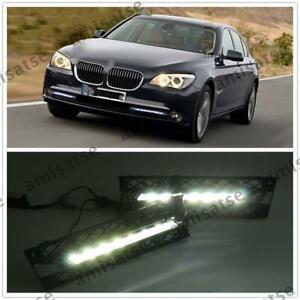 LED Daytime Running Fog Light For BMW 740i 750i 760i F01 F02 2009 2010 2011-12