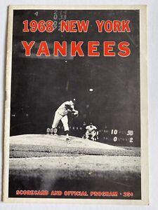 1968-73 New York Yankees Scorecards Six Different Mike Burke Autograph