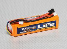 HobbyKing 1500mAh 3S 9.9v LiFe Transmitter TX Battery Pack JR Spektrum Futaba
